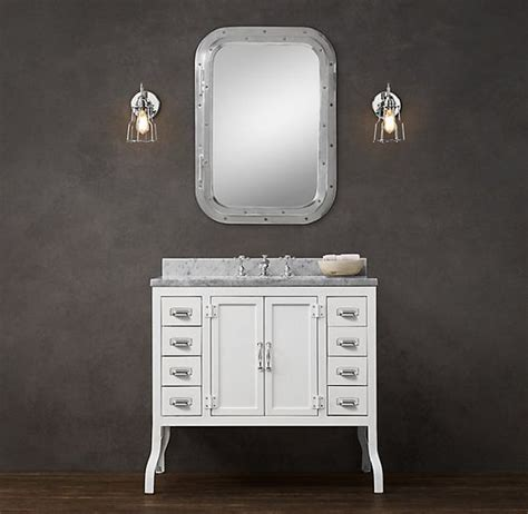 restore bathroom vanity marble top white vanity and hardware on pinterest