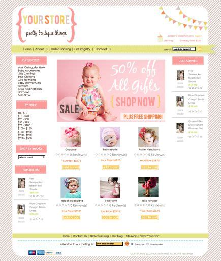 premade website design 3dcart templates joy studio