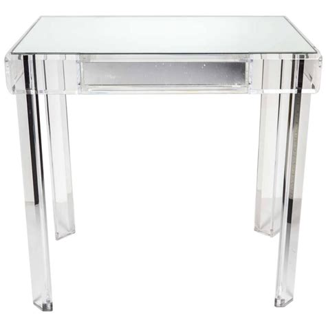 Lucite Vanity Table with Lucite Vanity Table At 1stdibs