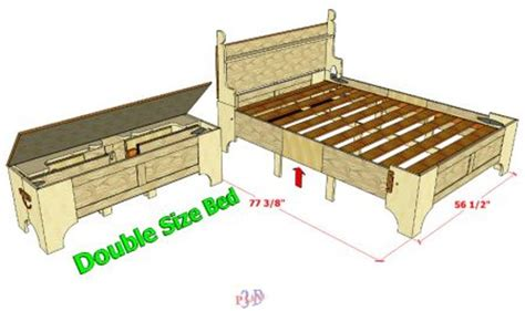 bed in a box plans 099 original double bed in a box 3d woodworking plans