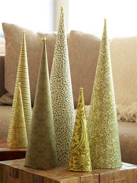 christmas tree tissue paper cone tree craft diy cone trees the budget decorator