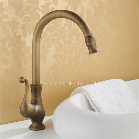 Cheap Antique Copper Vessel Mount Bathroom Basin Faucet Cheap Bathroom Faucet
