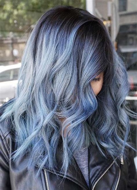hightlight in stip of front blue hair 30 brand new bangin blue hair color ideas