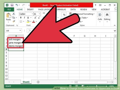 excel format uppercase first letter 4 ways to change from lowercase to uppercase in excel