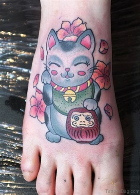 cool cat tattoos 54 sweet cat tattoos on foot