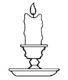 candle colouring pages