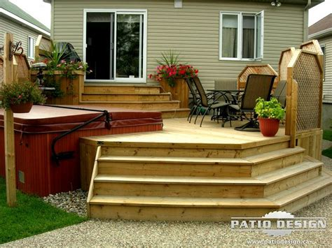 Terrasse Spa Patio by Patio Designs Patio Avec Spa R 233 Alis 233 Par Patio Design