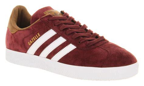 mens adidas originals gazelle 2 burgundy suede smu casual trainer shoes ebay