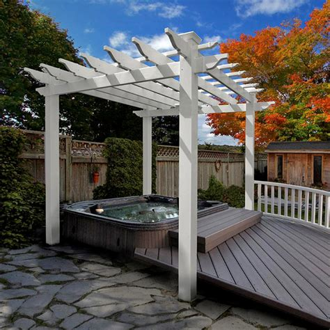 vinyl pergola materials pergolas deck pergolas vinyl pergolas chadsworth incorporated
