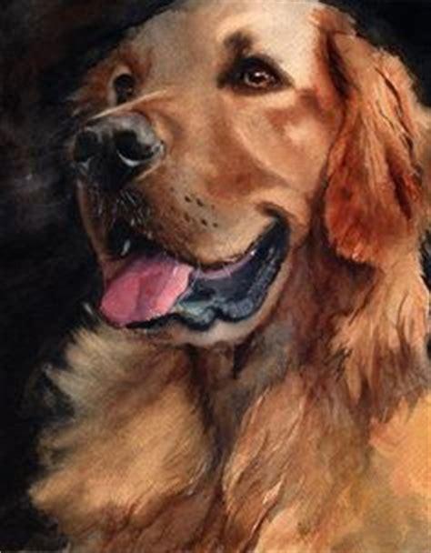 golden retriever watercolor julie shaw on