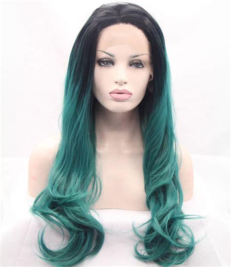 Jual Rambut Palsu Ombre hijau tua wig promotion shop for promotional hijau tua wig