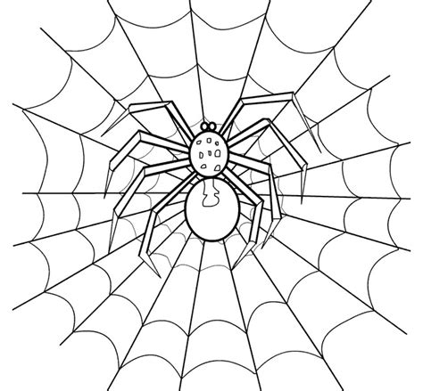 Spider Shape Template 55 Crafts Colouring Pages Free Premium Templates Spider Web Template