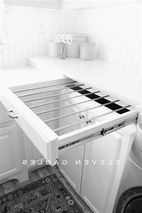 slide out laundry diy slide out drying rack laundry room http 11gables