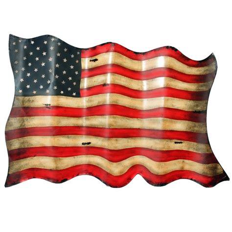 American Flag Wall Decor by Americana Antique Style American Flag Metal Wall Decor