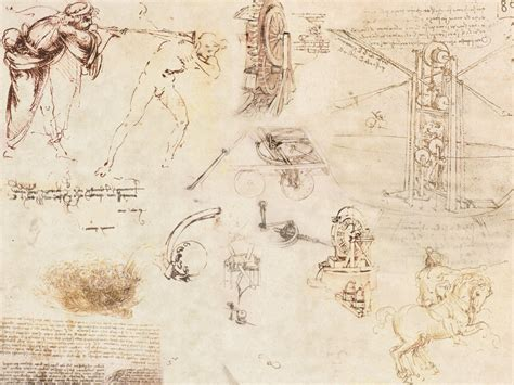 Sketches Leonardo Da Vinci by Leonardo Da Vinci Wallpaper