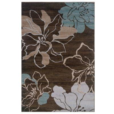 Linon Home Decor Milan Collection Brown And Turquoise 5 Ft | linon home decor milan collection brown and turquoise 5 ft