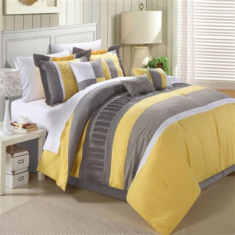 chic home euphoria comforter euphoria yellow comforter bed in a bag set 8 piece queen