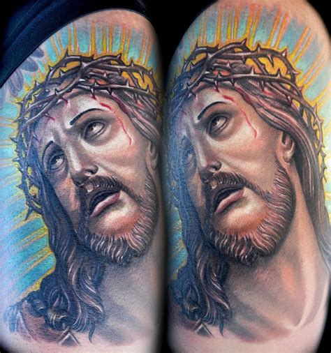 figurehead tattoo tattoos custom color jesus