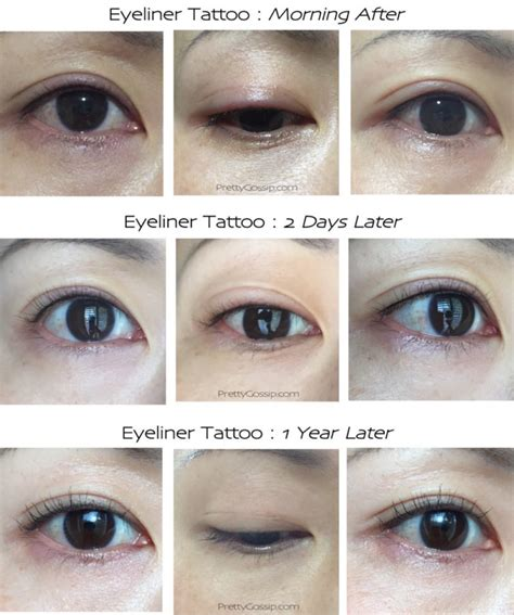 eyeliner tattoo not so scary before and after photos