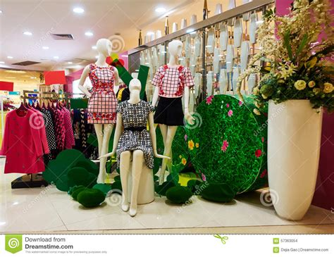 fashion boutique clothing shop clothes store stock photo