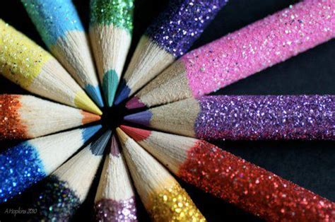 colors glitter pencils rainbow colors image 318350