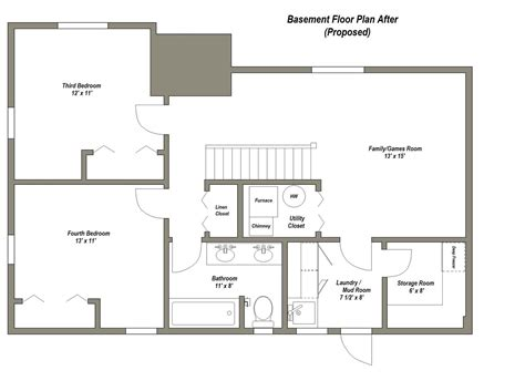 Basement Floor Plan | finished basement floor plans finished basement floor