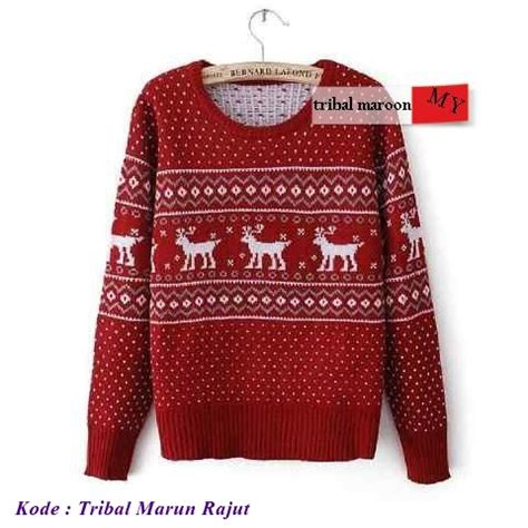 Op3796 Sweater Triball Grosir Sweater Triball Murah Kode Bimb42 grosir baju korea murah tribal marun rajut modenagrosir
