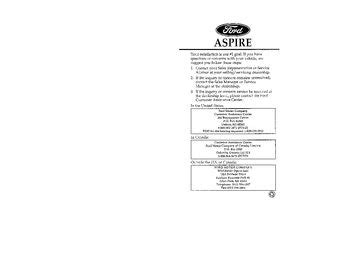 car repair manual download 1996 ford aspire seat position control service manual free auto repair manuals 1996 ford aspire on board diagnostic system 1996