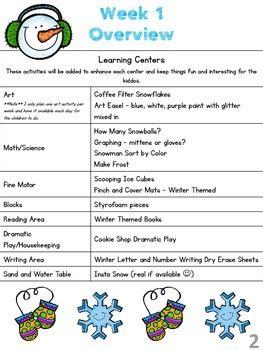 january lesson plan series week  winter  preschool