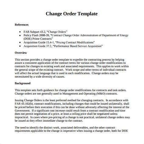 sample change orders   ms word