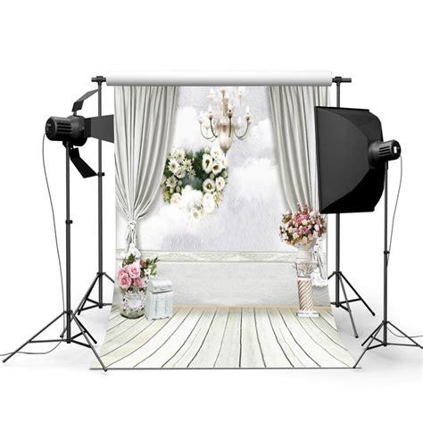 Wedding Backdrop Malaysia by 5x7ft Wedding Photography Backdrop Flower Wooden Floor
