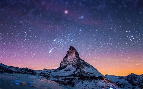 wallpaper for my macbook ma69 night stars over moutain nature