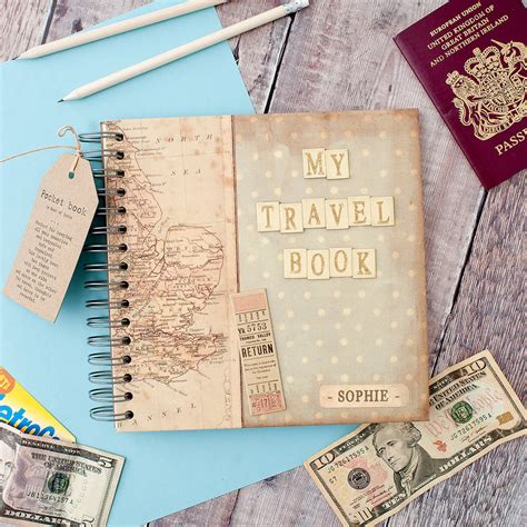 travel picture books personalised my travel book keepsake journal by the
