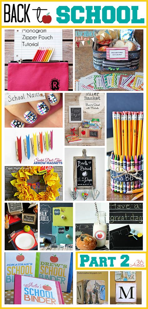 great back to school ideas the 36th avenue