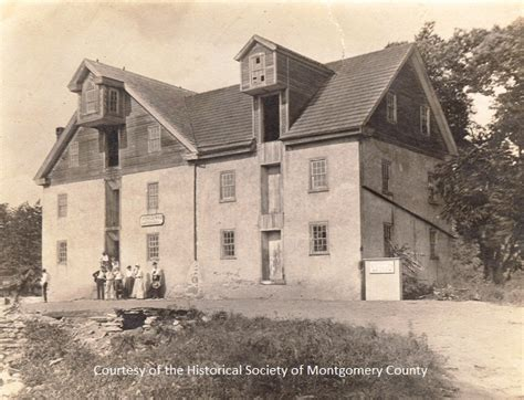 Www Montcopa Org Property Records History Of The Mill House Montgomery County Pa