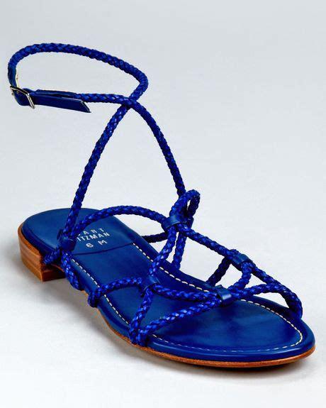 minimalist sandals stuart weitzman sandals cordy minimalist rope flat in blue