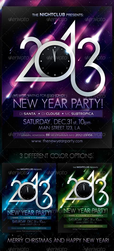 new year printable posters 2013 new year poster print ad templates