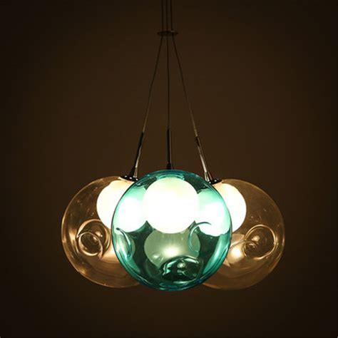 Modern Colorful Glass Bubble Led Pendant Light Chandelier Colorful Ceiling Lights