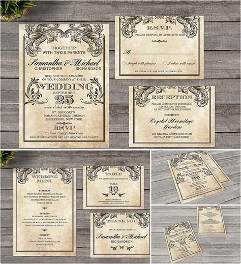 Wedding Invitation Vintage by Vintage Wedding Invitation Style Free