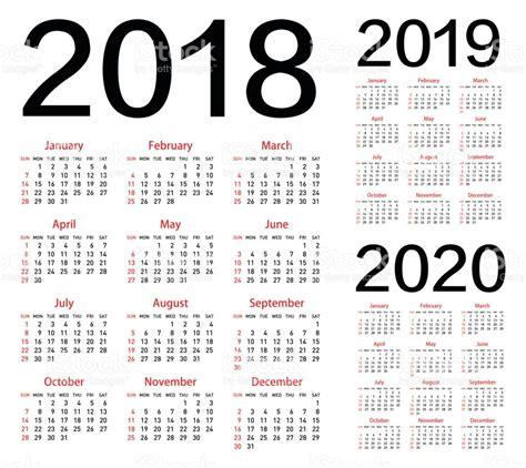 Calendario 2018 Y 2019 Calendario De Vector Para El A 241 O 2018 2019 2020