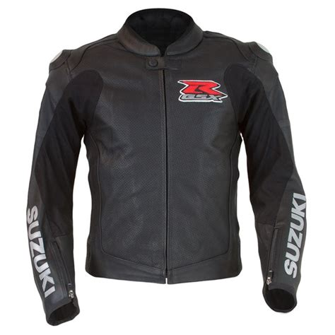 suzuki riding jacket gsx r leather jacket black cheap cycle parts