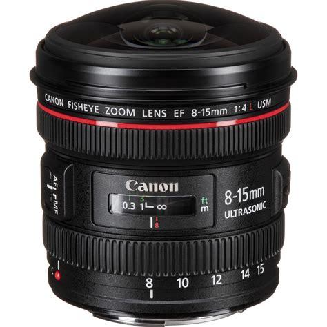 Fish Lens by Canon Ef 8 15mm F 4l Fisheye Usm Lens 4427b002 B H Photo