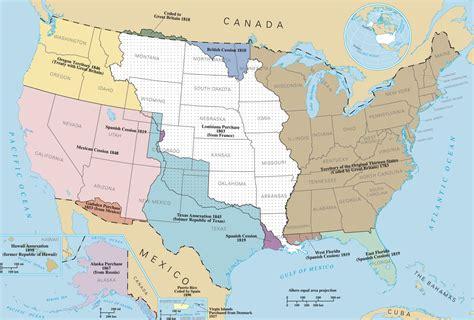 louisiana purchase map key louisiana purchases manifest destiny