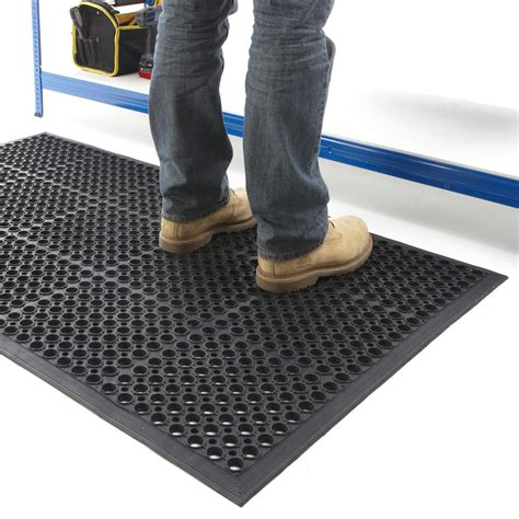 How To Stop Slipping On Mat by Industrial Anti Fatigue Mat 900 X 1500mm 13mm Thick Ebay