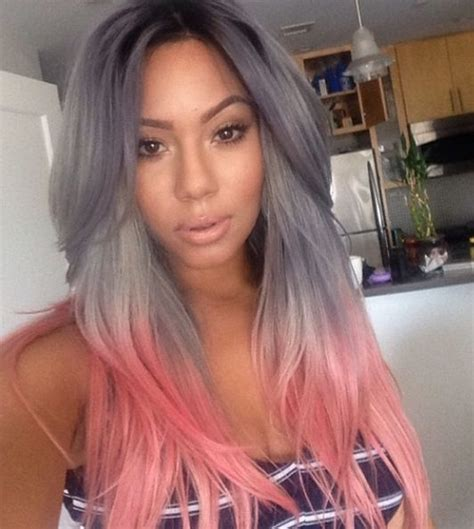 hair color grey in front 8 with pink ends could you rock granny hair these grey