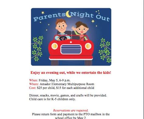 Parents Night Out Flyer Your Group Offers Baby Siting Services To Give Parents A Break Parents Out Flyer Template Free