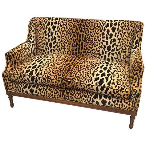 mid century leopard print sofa  sale  stdibs