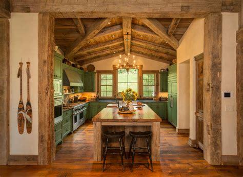 Distressed Island Kitchen homestead pioneer ranch rustic kitchen denver by