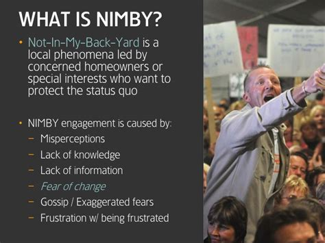 not in my backyard nimby exorcise the nimby within