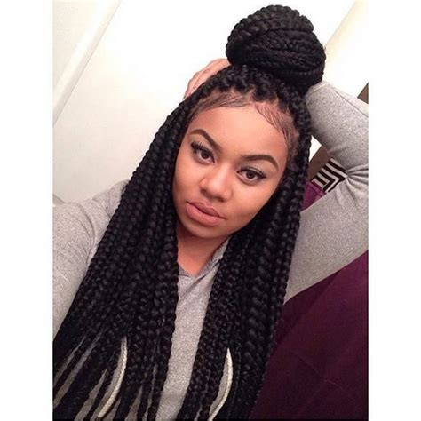 cute hairstyles for jumbo box braids 42 best big jumbo braids styles with images beautified